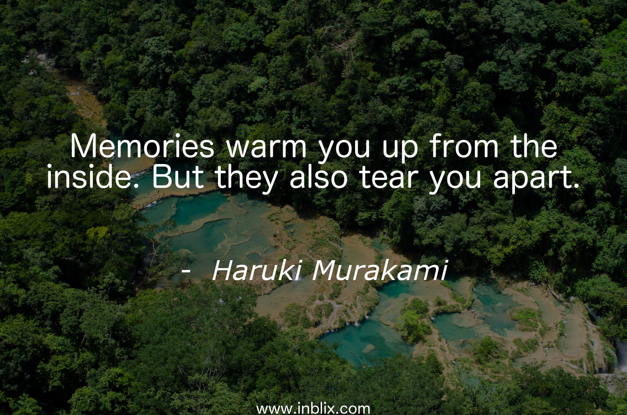 Memories warm you up from the inside. But they also tear you apart.