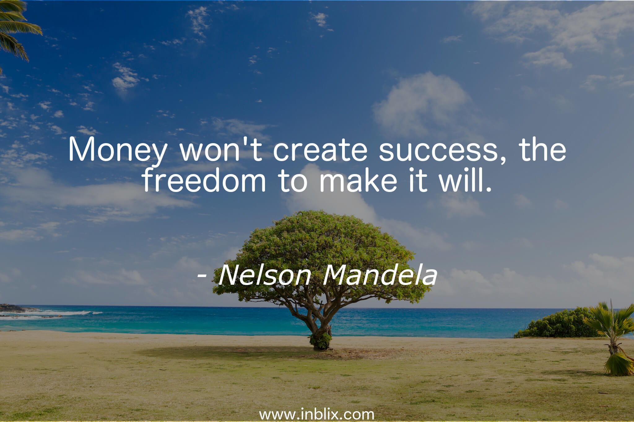 Money won't create success, the freedom to make it will.