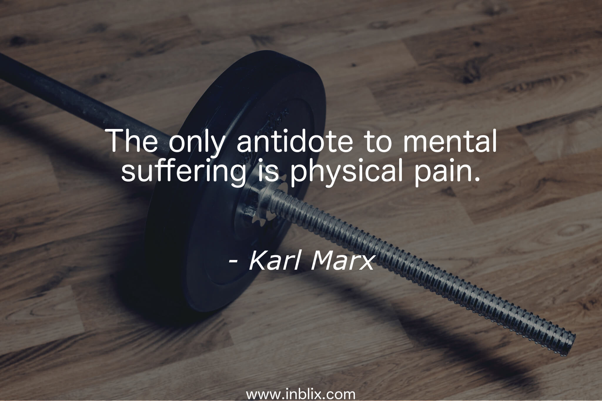 The only antidote to mental suffering is physical pain.