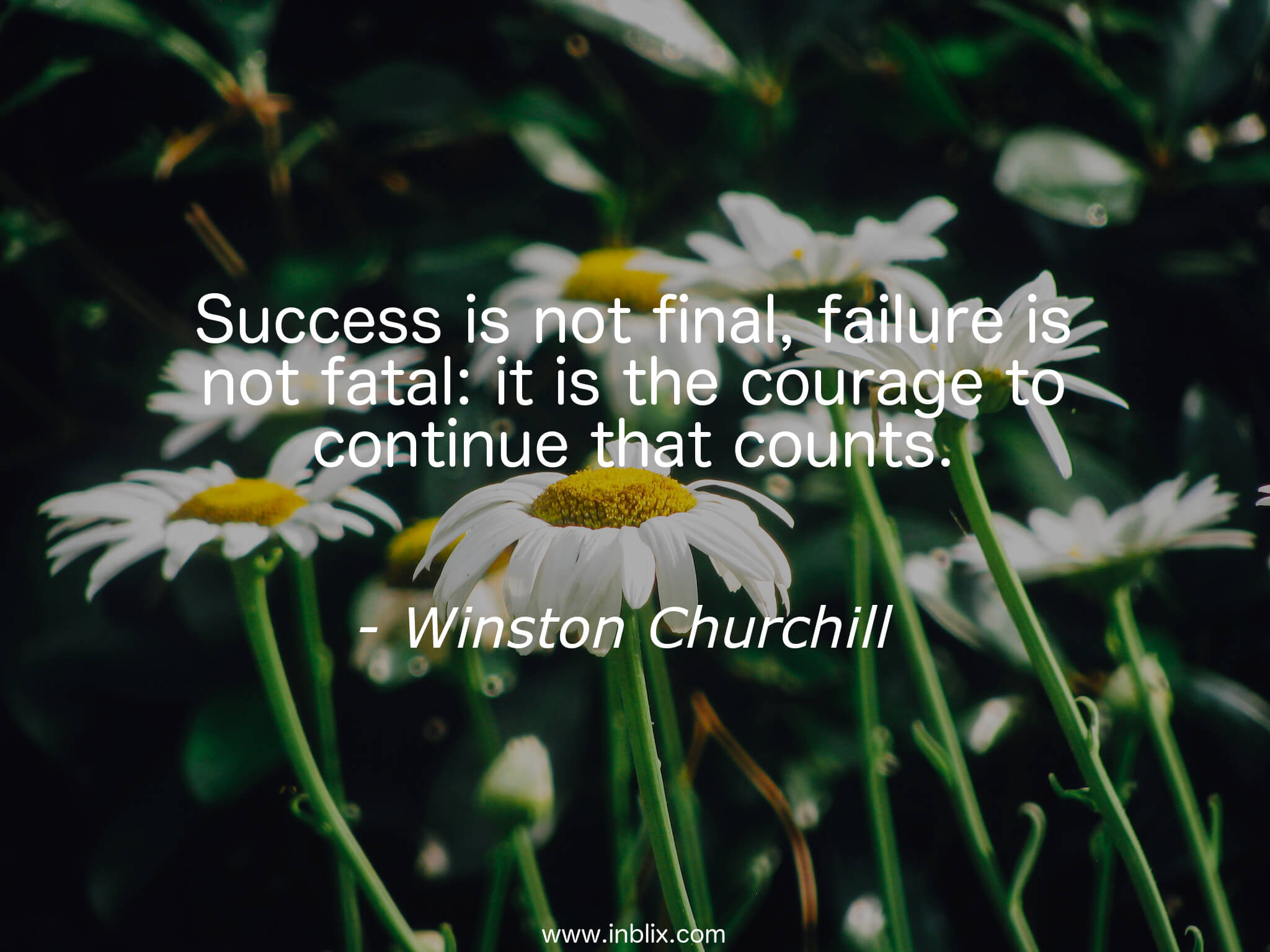 Success is not final, failure is not fatal; it is the courage to continue that counts.