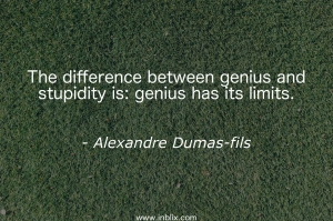 The difference between genius and stupidity is: genius has its limit.