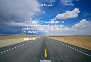 There are only two mistakes one can make along the road to truth; not going all the way, and not starting.