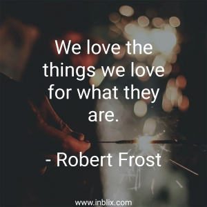We love the things we love for what they are.