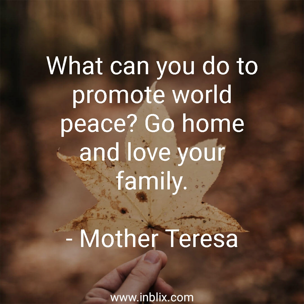 What Can You Do To Promote Wor By Mother Teresa Inblix