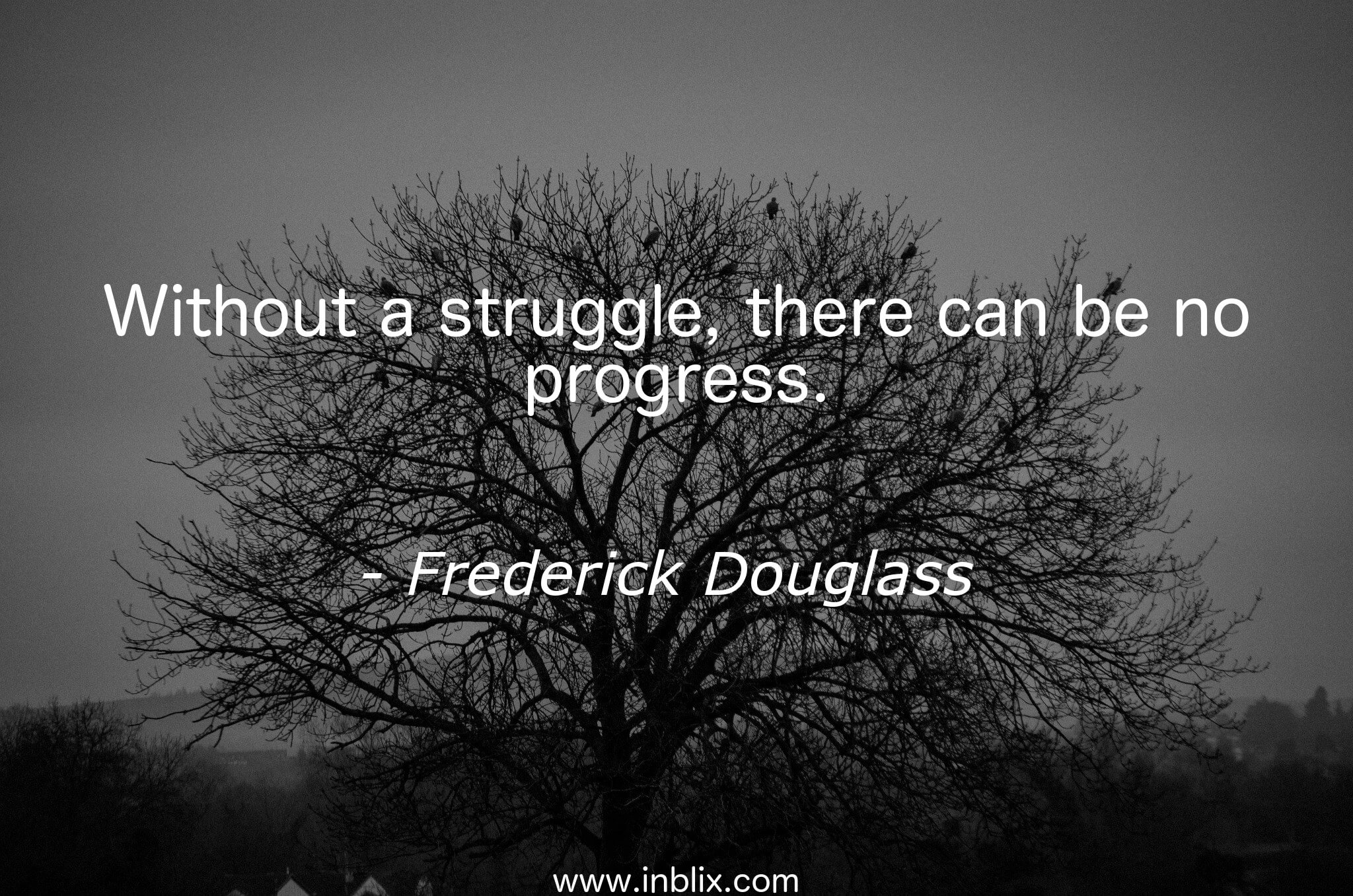 Without a struggle, there can be no progress.